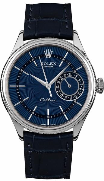 repliche Orologio Rolex Cellini Date quadrante blu 39MM orologio 50519