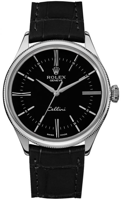 repliche Orologio Rolex Cellini Time quadrante nero 50509