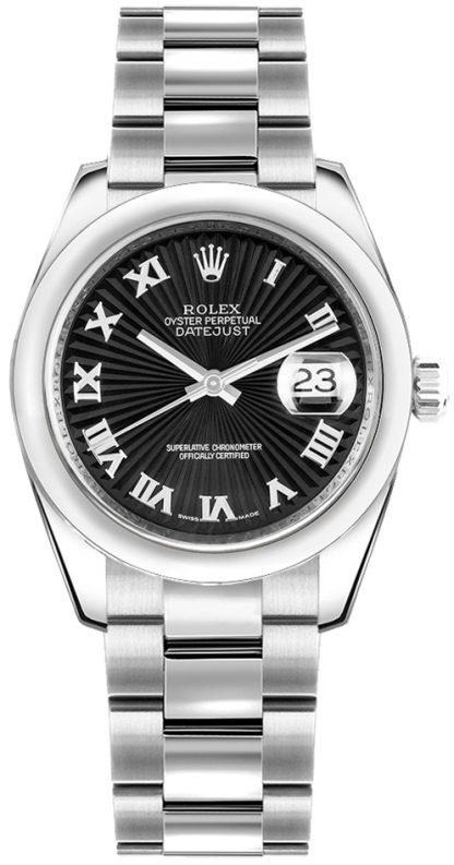 repliche Orologio Rolex Datejust 31 Sunbeam quadrante nero 178240