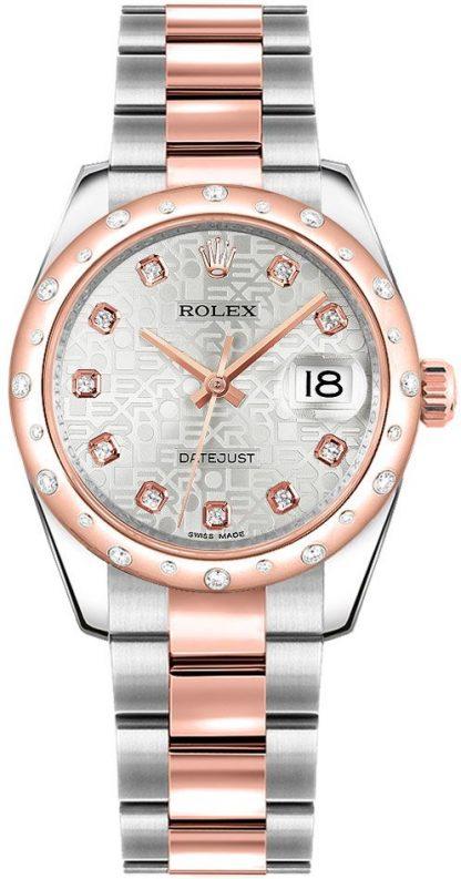 repliche Orologio Rolex Datejust 31 in acciaio inossidabile e oro rosa 178341