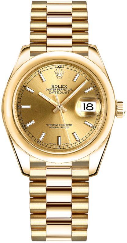 repliche Orologio Rolex Datejust 31 in oro giallo 18 carati 178248