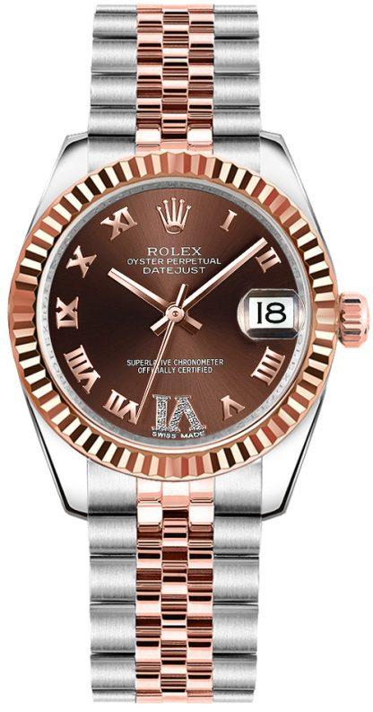 repliche Orologio Rolex Datejust 31 quadrante cioccolato 178271