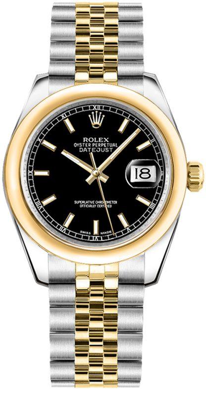 repliche Orologio Rolex Datejust 31 quadrante nero bicolore 178243
