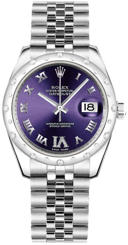 repliche Orologio Rolex Datejust 31 quadrante viola 178344