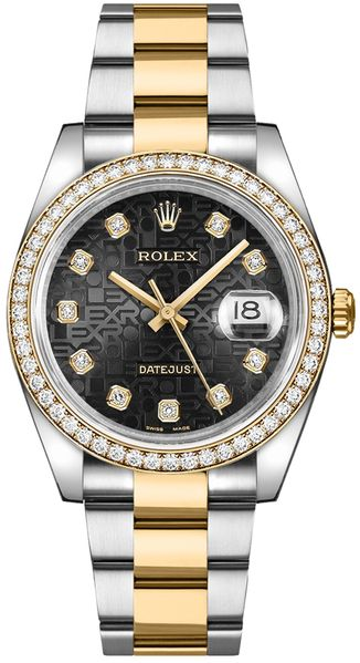 repliche Orologio Rolex Datejust 36 Black Jubilee Diamond Watch 116243