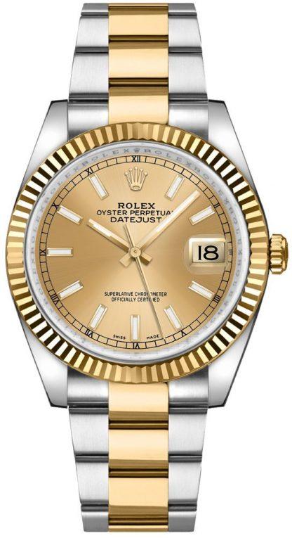repliche Orologio Rolex Datejust 36 Oyster in acciaio e oro Orologio 116233
