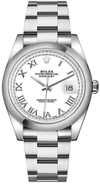 repliche Orologio Rolex Datejust 36 bianco numeri romani 116200