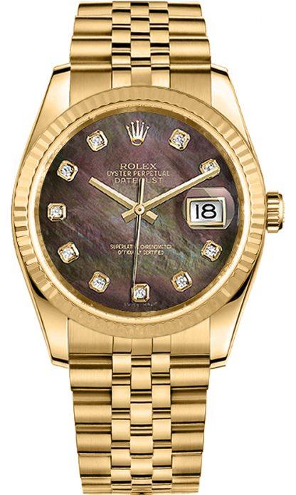 repliche Orologio Rolex Datejust 36 con cornice scanalata 116238