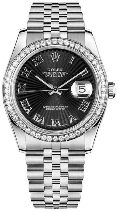 repliche Orologio Rolex Datejust 36 con diamanti