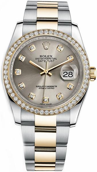repliche Orologio Rolex Datejust 36 in acciaio e oro 116243