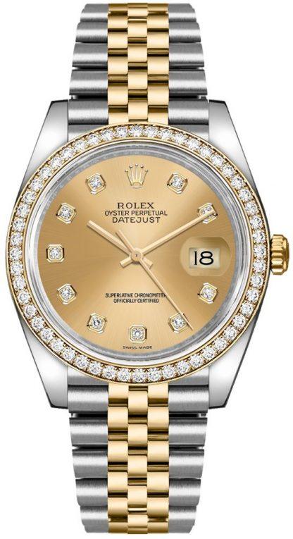 repliche Orologio Rolex Datejust 36 in acciaio inossidabile e oro giallo 116243