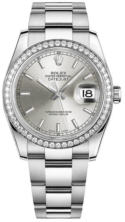 repliche Orologio Rolex Datejust 36 in oro bianco e acciaio Oystersteel 116244
