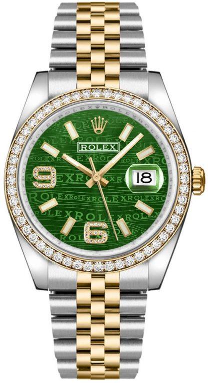 repliche Orologio Rolex Datejust 36 quadrante diamante verde 116243