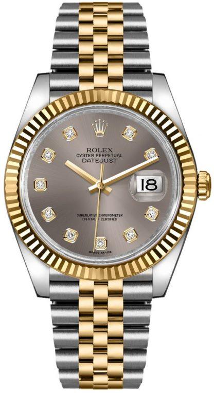 repliche Orologio Rolex Datejust 36 quadrante grigio diamante 116233