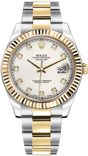 repliche Orologio Rolex Datejust II 41 con quadrante avorio diamante 116333