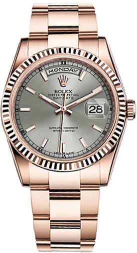 repliche Orologio Rolex Day-Date 36 automatico in oro rosa 118235