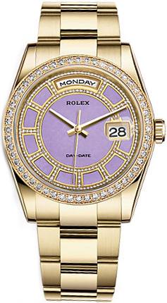 repliche Orologio Rolex Day-Date 36 con diamanti in oro 118348