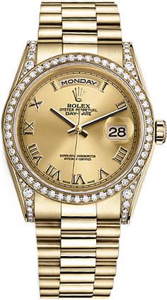 repliche Orologio Rolex Day-Date 36 in oro giallo 118388