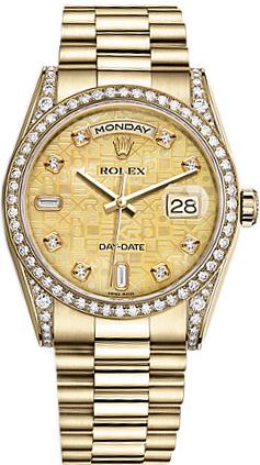 repliche Orologio Rolex Day-Date 36 in oro giallo massiccio 18 carati 118388