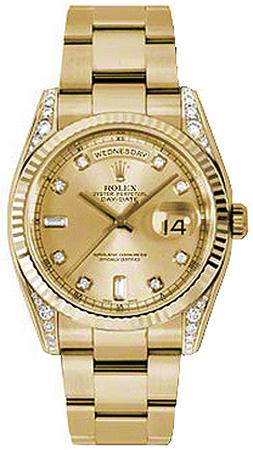 repliche Orologio Rolex Day-Date 36 in oro massiccio 118338