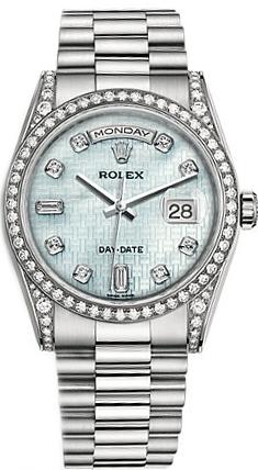 repliche Orologio Rolex Day-Date 36 in oro massiccio di lusso 118389