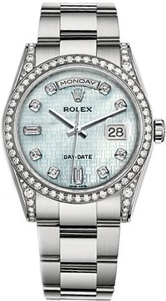 repliche Orologio Rolex Day-Date 36 quadrante in madreperla oro orologio 118389