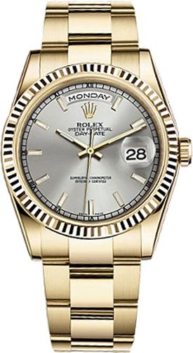 repliche Orologio Rolex Day-Date 36 quadrante in oro massiccio orologio in oro 118238
