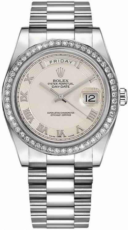 repliche Orologio Rolex Day-Date 41 Ivory DIal in oro bianco 218349
