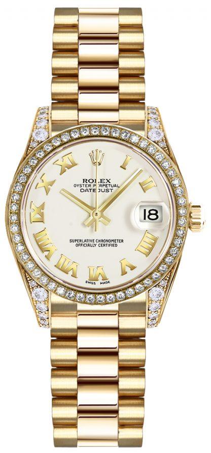 repliche Orologio Rolex Lady-Datejust 26 numeri romani bianchi 179158