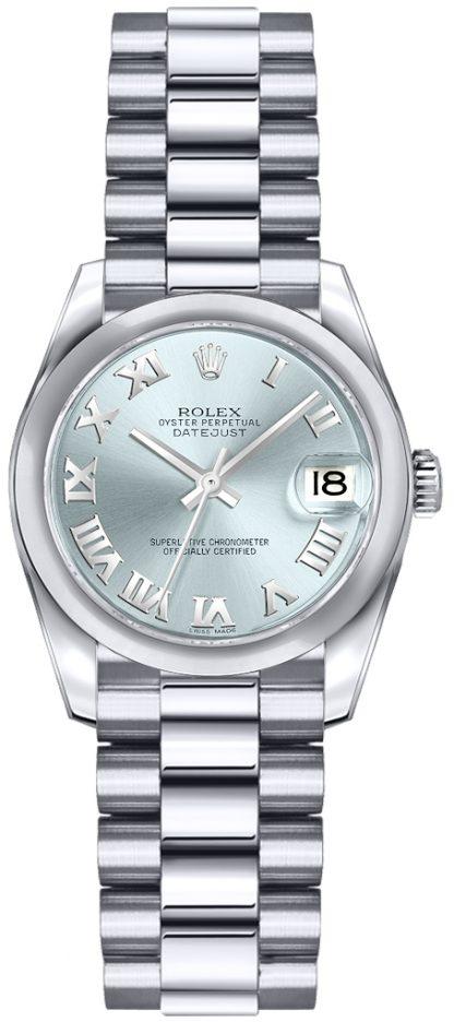repliche Orologio Rolex Lady-Datejust 26 quadrante blu ghiaccio 179166