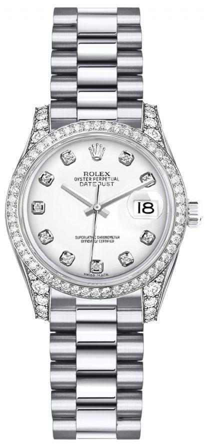 repliche Orologio Rolex Lady-Datejust 26 quadrante diamante bianco 179159