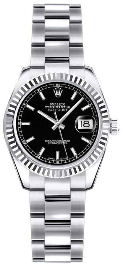 repliche Orologio Rolex Lady-Datejust 26 quadrante nero 179179