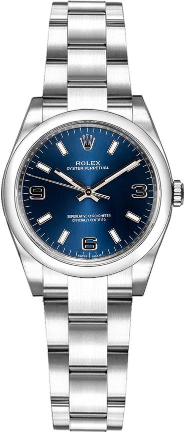 repliche Orologio Rolex Oyster Perpetual 26 quadrante blu 176200