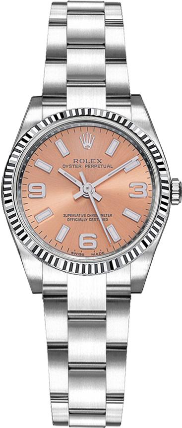 repliche Orologio Rolex Oyster Perpetual 26 quadrante scanalato quadrante rosa 176234