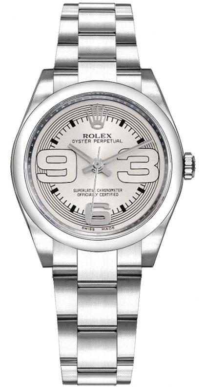 repliche Orologio Rolex Oyster Perpetual 31 quadrante argento 177200