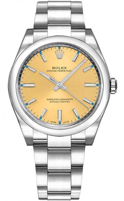 repliche Orologio Rolex Oyster Perpetual 34 in acciaio 114200