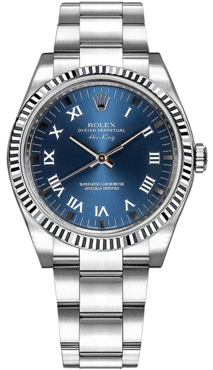 repliche Orologio Rolex Oyster Perpetual Air-King in acciaio inossidabile 114234