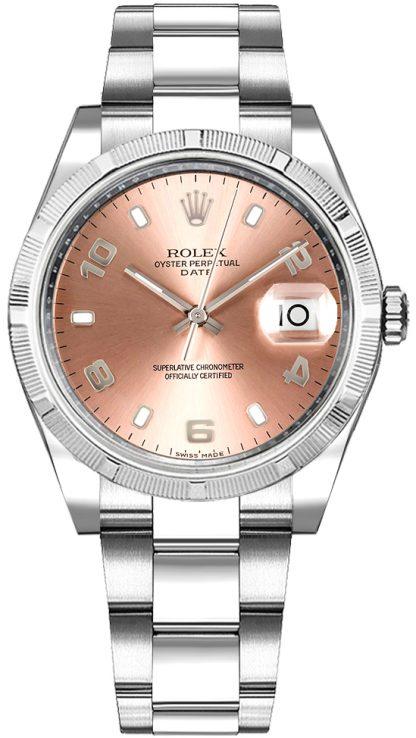 repliche Orologio Rolex Oyster Perpetual Date 34 con quadrante rosa 115234