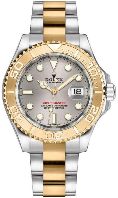 repliche Orologio Rolex Yacht-Master 35 in oro e acciaio 168623