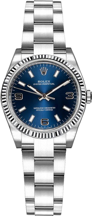 repliche Orologio automatico Rolex Oyster Perpetual 26 quadrante blu 176234