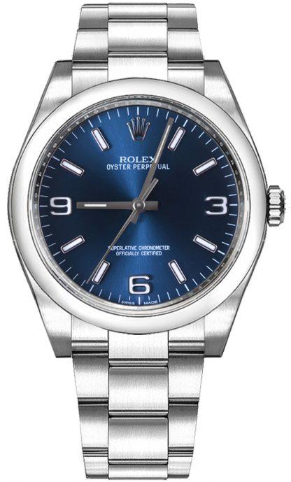 repliche Orologio automatico Rolex Oyster Perpetual 36 quadrante blu donna 116000