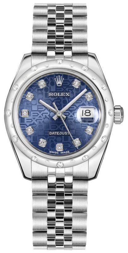 repliche Orologio da donna Rolex Datejust 31 Blue Jubilee 178344