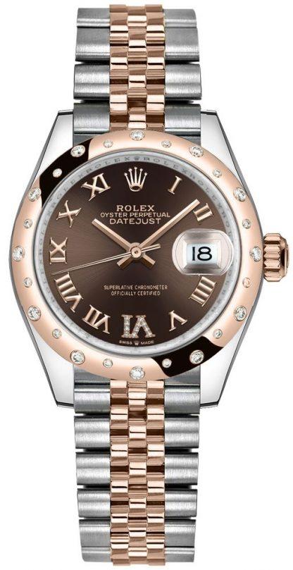 repliche Orologio da donna Rolex Datejust 31 Diamond Roman VI 278341RBR