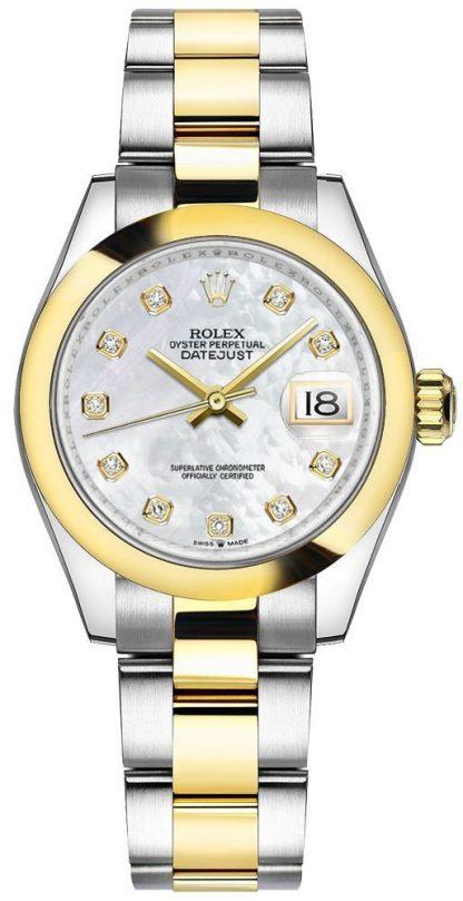 repliche Orologio da donna Rolex Datejust 31 con castone a cupola in madreperla 278243