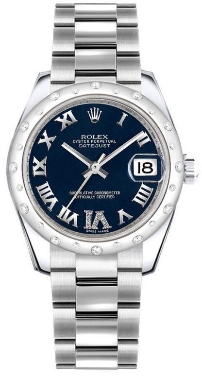 repliche Orologio da donna Rolex Datejust 31 con castone di diamanti 178344