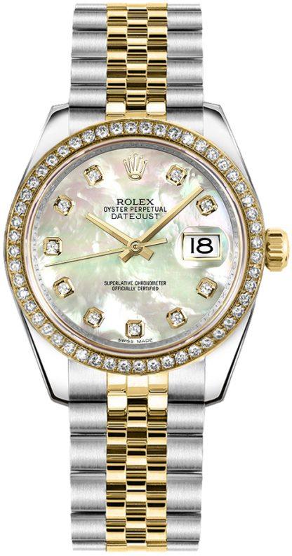 repliche Orologio da donna Rolex Datejust 31 con madreperla e diamante 178383