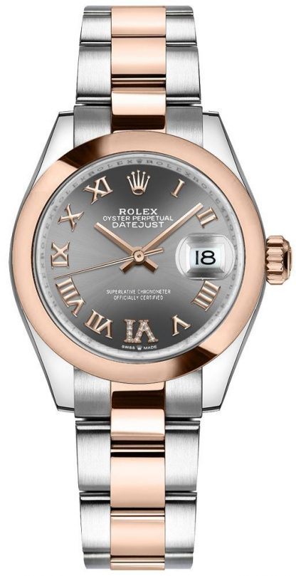 repliche Orologio da donna Rolex Datejust 31 diamante rodio scuro VI 278241