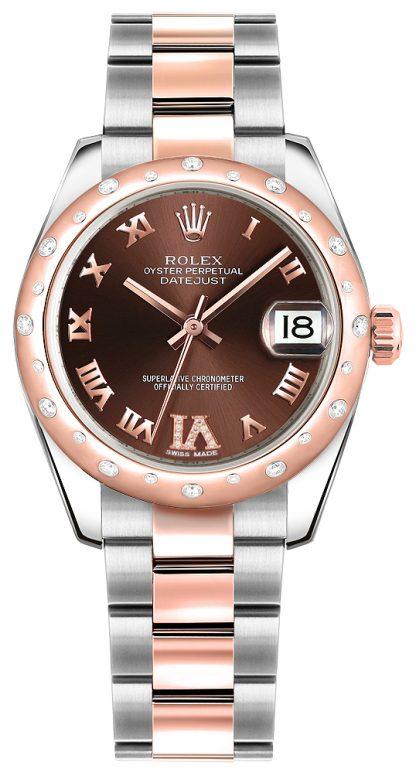 repliche Orologio da donna Rolex Datejust 31 in acciaio inossidabile e oro rosa 178341