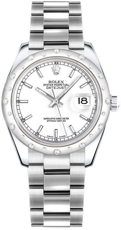 repliche Orologio da donna Rolex Datejust 31 in oro bianco e diamanti 178344