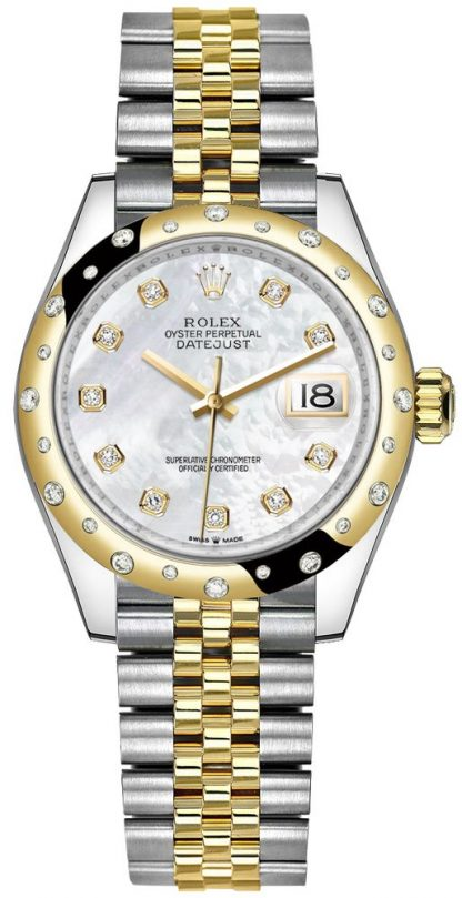 repliche Orologio da donna Rolex Datejust 31 in oro giallo e acciaio Oystersteel 278343RBR
